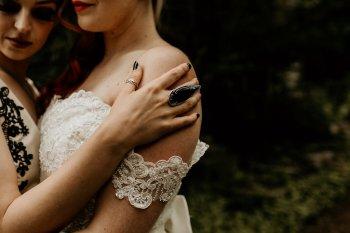 Chloe Mary Photography - Babes with the Power wedding- Rebel Rebel - Alternative wedding - Gothic wedding 13