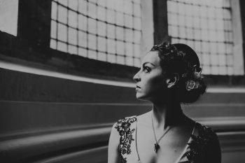 Chloe Mary Photography - Babes with the Power wedding - Rebel Rebel - Alternative wedding - Gothic wedding 16