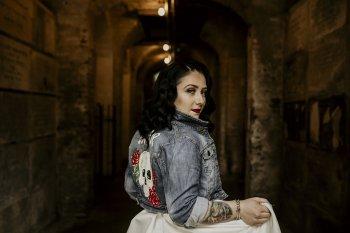 Chloe Mary Photography - Babes with the Power wedding - Rebel Rebel - Alternative wedding - Gothic wedding 24