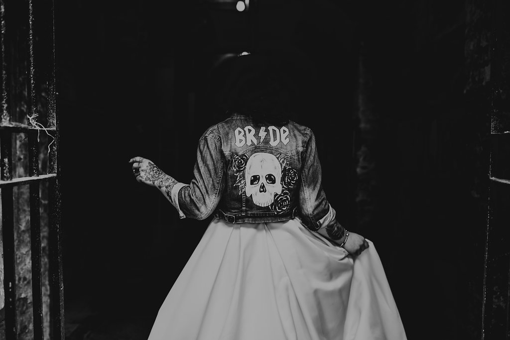 Chloe Mary Photography - Babes with the Power wedding - Rebel Rebel - Alternative wedding - Gothic wedding 25
