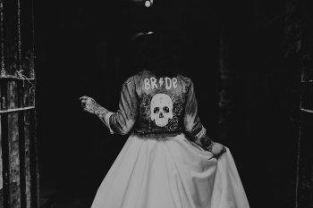 Chloe Mary Photography - Babes with the Power wedding - Rebel Rebel - Alternative wedding - Gothic wedding 25