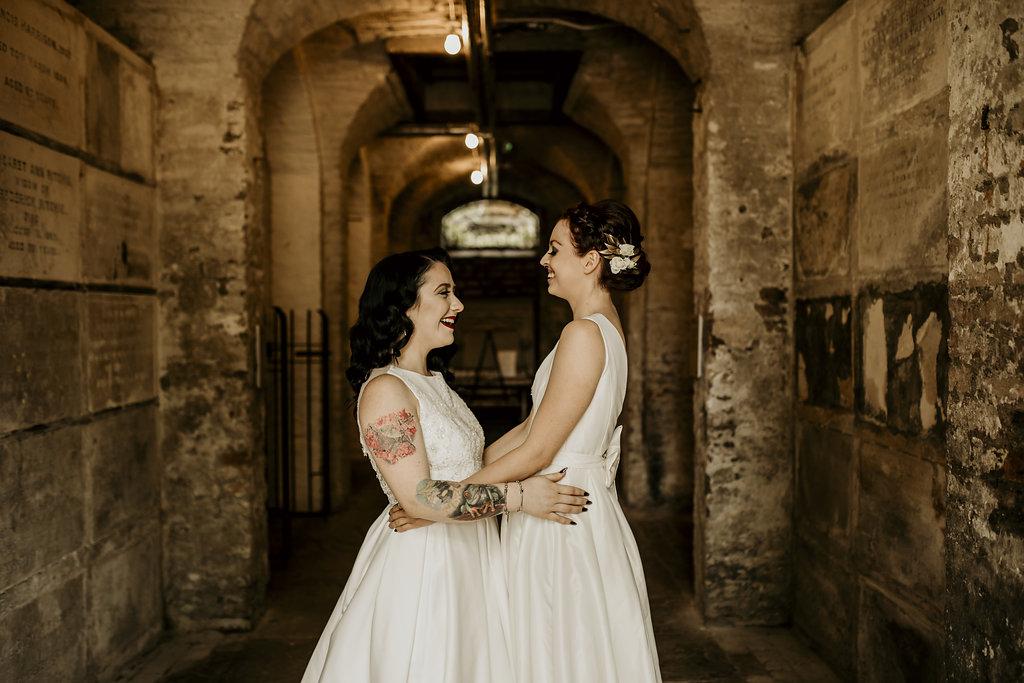 Chloe Mary Photography - Babes with the Power wedding - Rebel Rebel - Alternative wedding - Gothic wedding 53