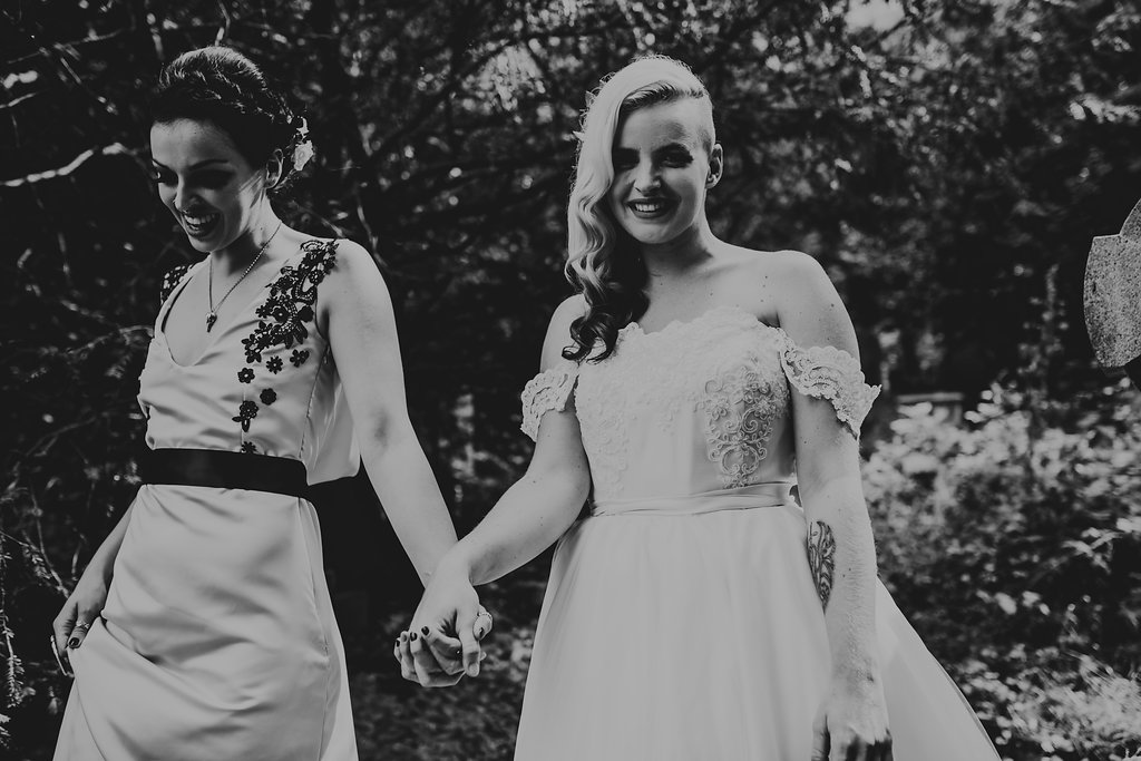 Chloe Mary Photography - Babes with the Power wedding - Rebel Rebel - Alternative wedding - Gothic wedding 8