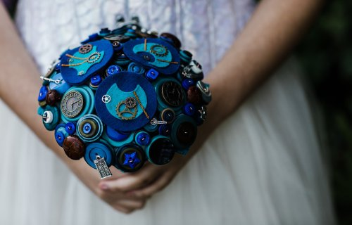 Charlotte Laurie Designs - Doctor Who wedding - alternative bouquet - felt button
