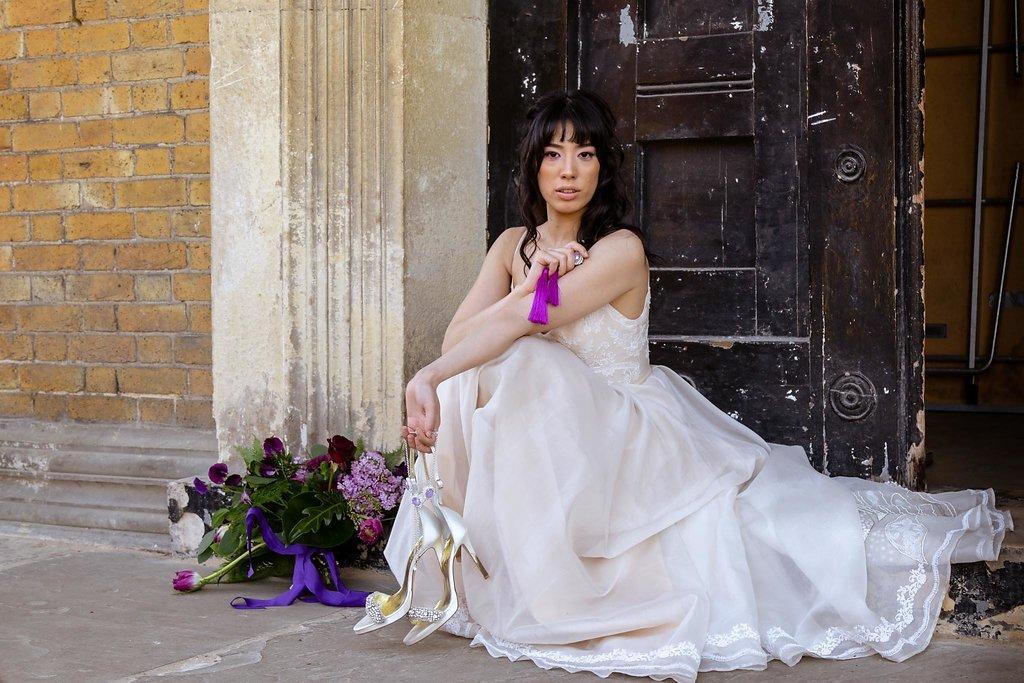 Rock the Purple Love - Gido Weddings - The Asylum Chapel - alternative wedding inspiration 16 - urban modern wedding