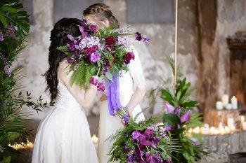 Rock the Purple Love - Gido Weddings - The Asylum Chapel - alternative wedding inspiratio