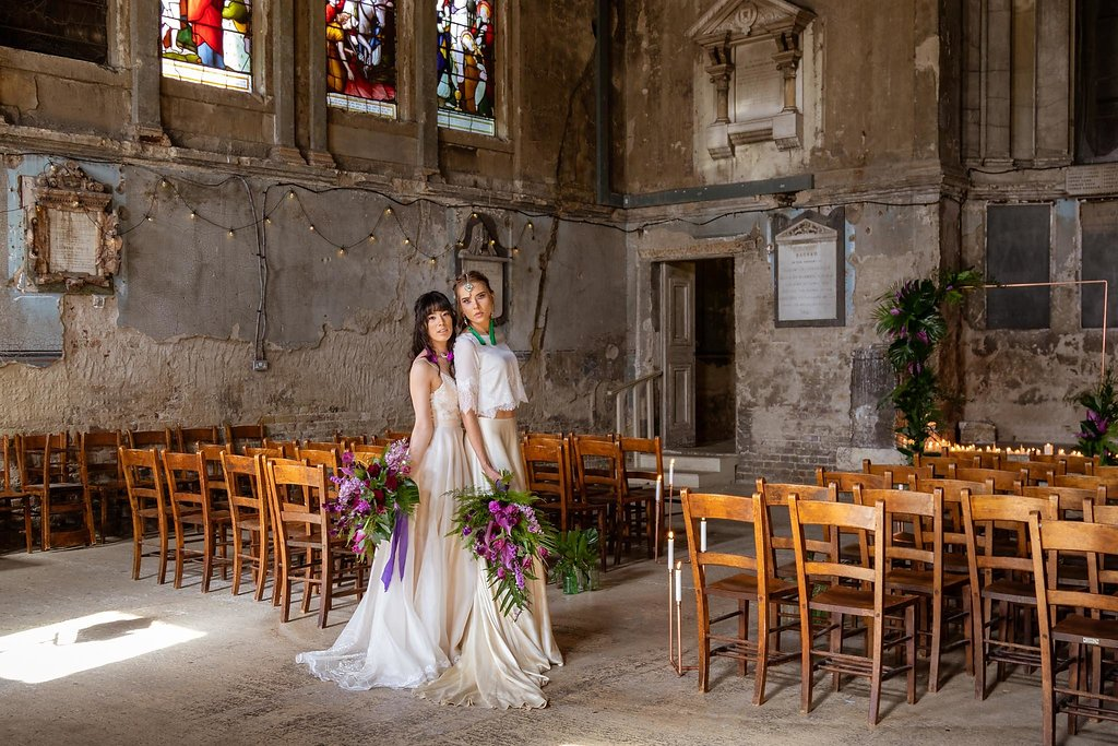 Rock the Purple Love - Gido Weddings - The Asylum Chapel - alternative wedding inspiration 2 - Urban, modern wedding