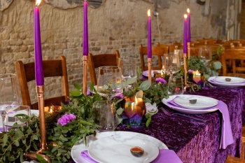 Rock the Purple Love - Gido Weddings - The Asylum Chapel - alternative wedding inspiration 26 - urban modern wedding