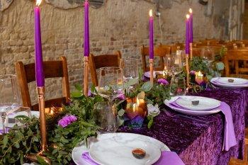 Rock the Purple Love - Gido Weddings - The Asylum Chapel - alternative wedding inspiration 26 - urban modern wedding