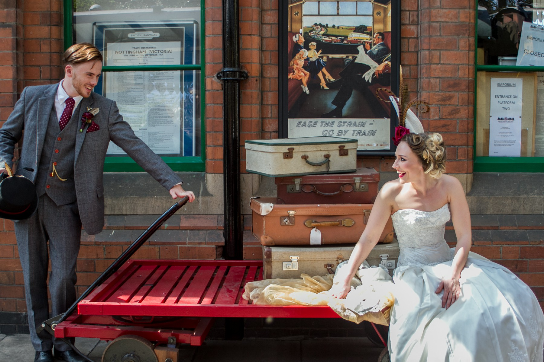 Iso Elegant Photography - Leicester wedding network - Railway wedding - vintage wedding 39
