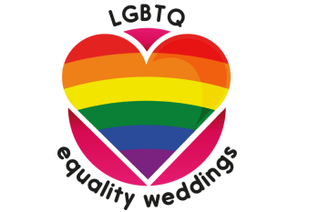 LGBTQ equality weddings logo