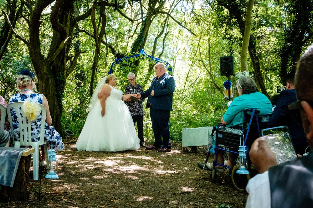 Star Ceremonies - Photo by Owain Turner - Celebrant wedding - woodland wedding - alternative wedding - unconventional wedding