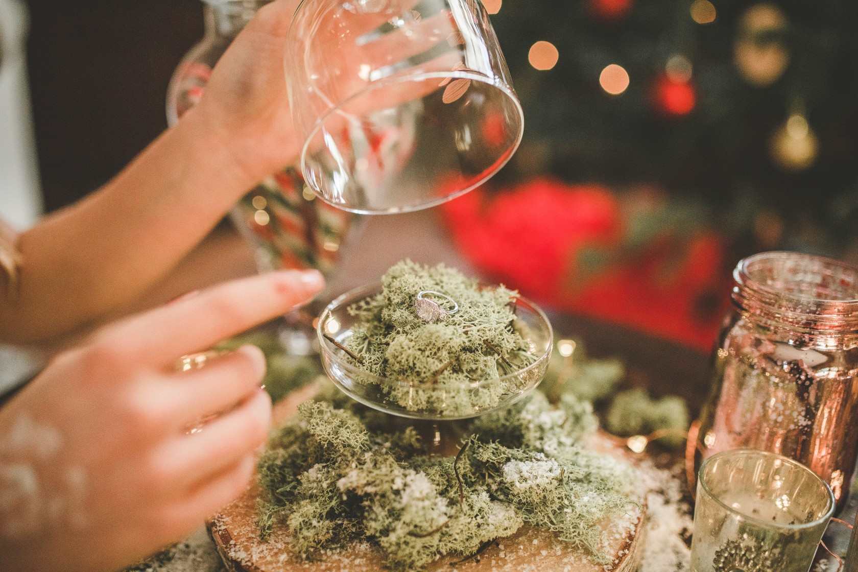 Christmas wedding - Victoria Taylor-Christmas Fairy-Laura Beresford Photography- ring (2)