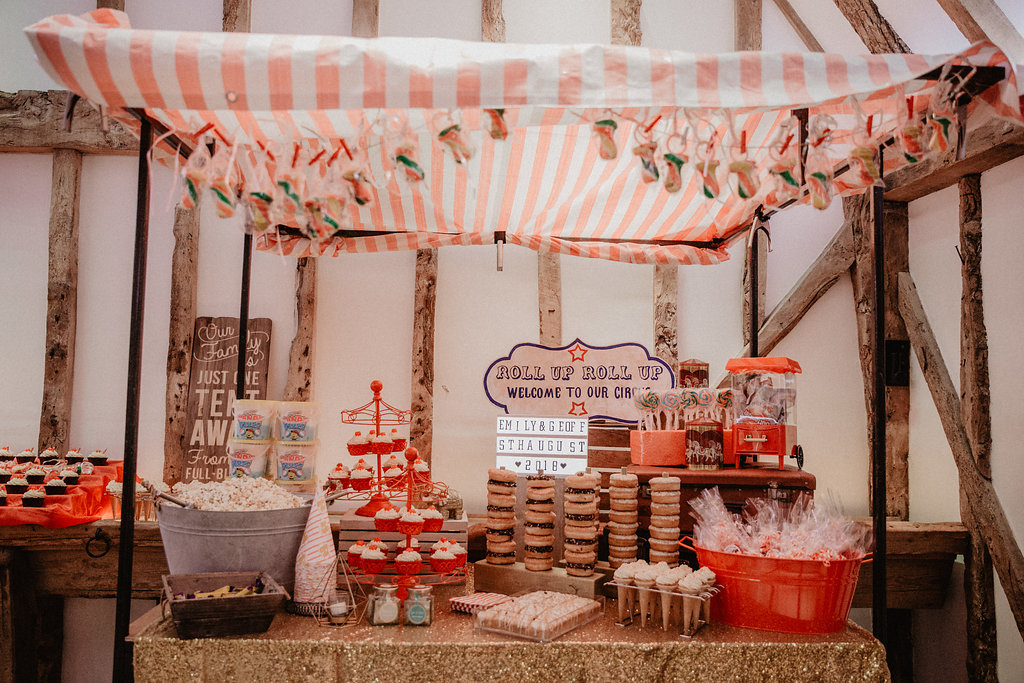 EmilyandGeoff- Nicki Shea Photography- Circus Wedding sweet stall