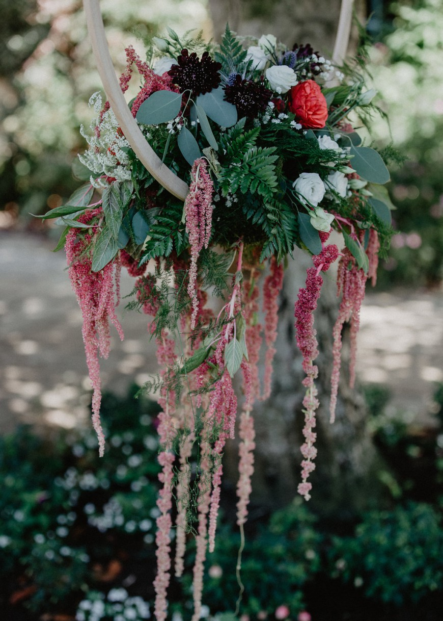 EmilyandGeoff- Nicki Shea Photography- Circus Wedding- hanging flowers
