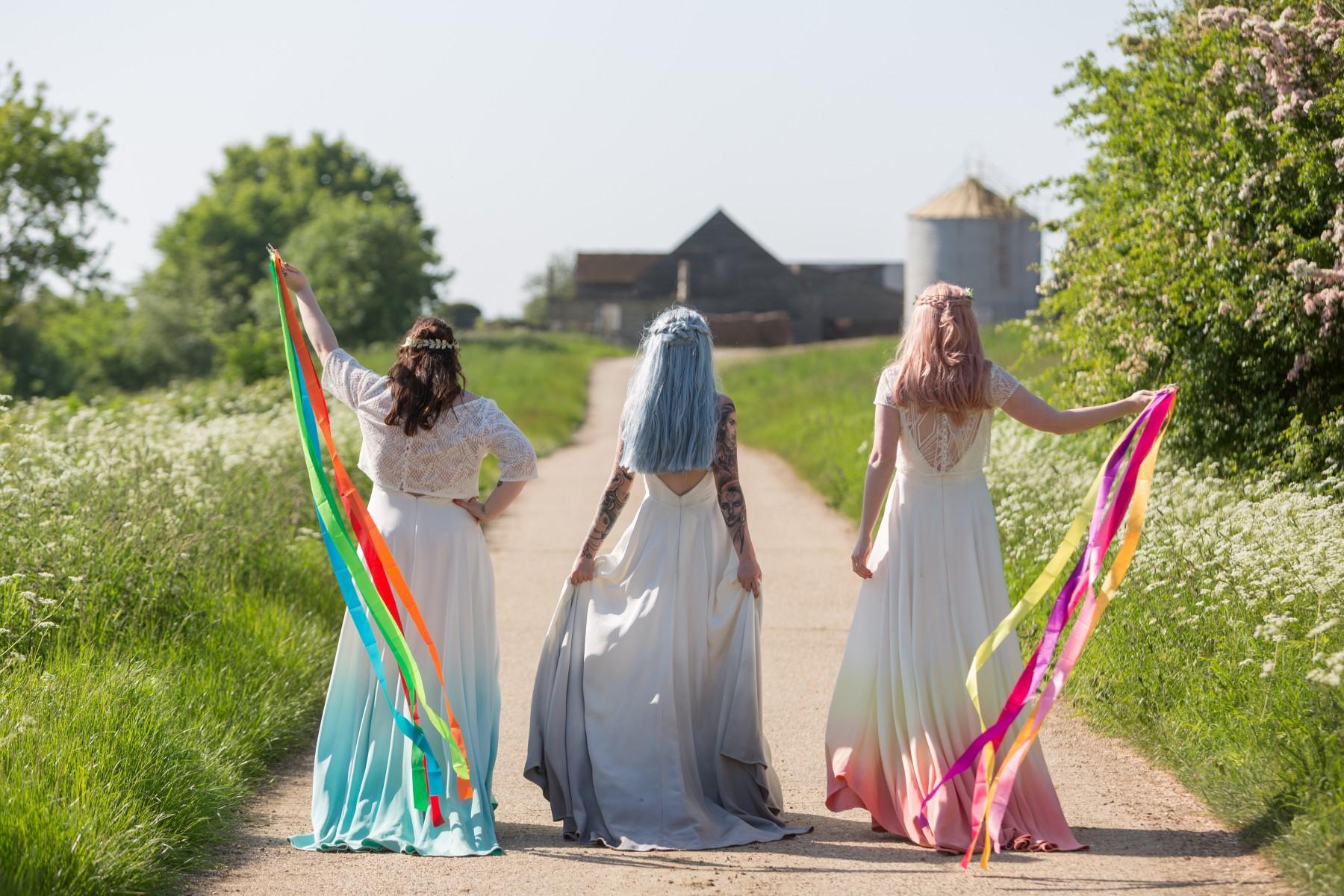 Lucy Can't Dance - Dip Dye Bridal wear - alternative bridal wear - unique wedding dress - Jodi Hanagan Photography
