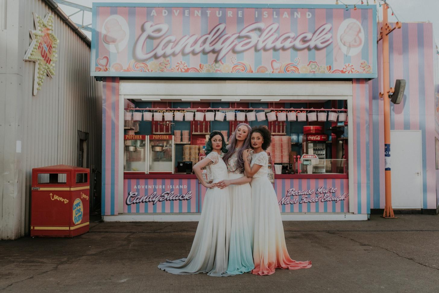 Lucy Can't Dance - Dip Dye Bridal wear - alternative bridal wear - unique wedding dress - Megan Elle Photography - quirky wedding dress