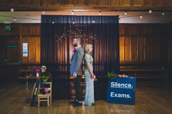 Curious Magie-Science Geeks Wedding-Couple