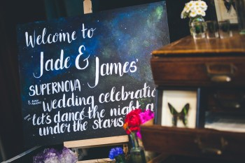 Curious Magpie- Science Geeks Wedding-Sign