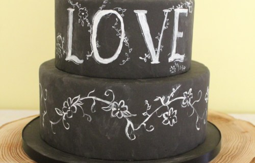 Happy yellow cake company - chalkbord wedding cake - unique wedding cakes 1 (1)