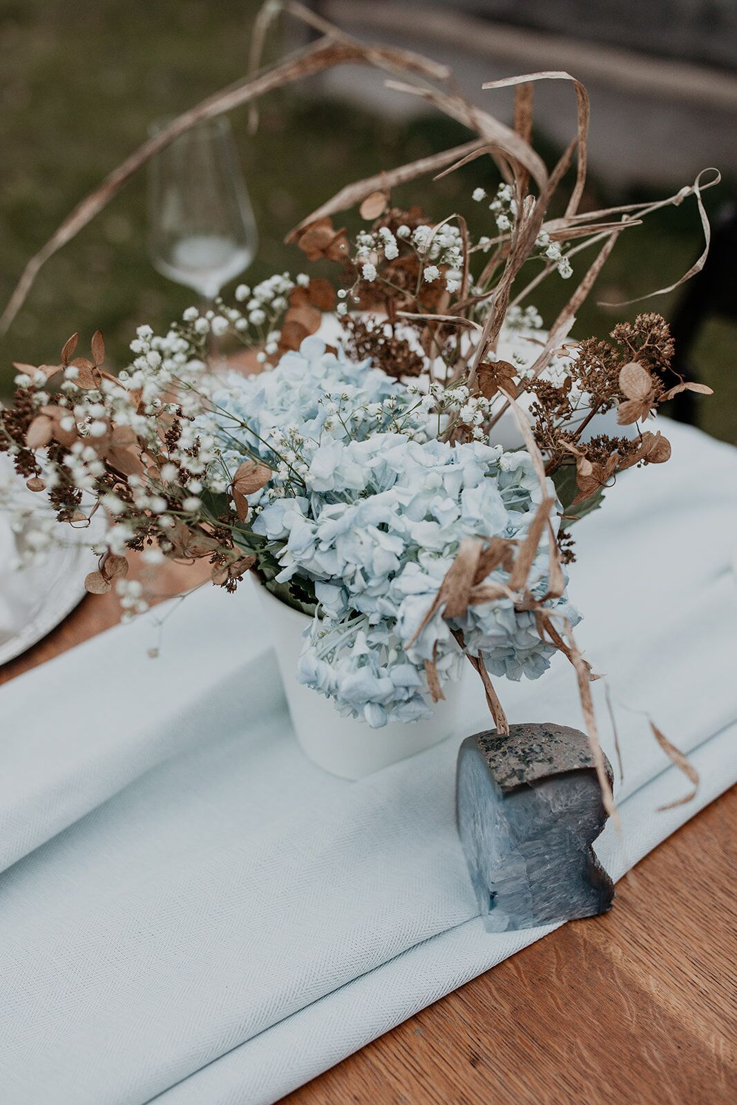 rustic winter wedding- wild honey weddings- flowers