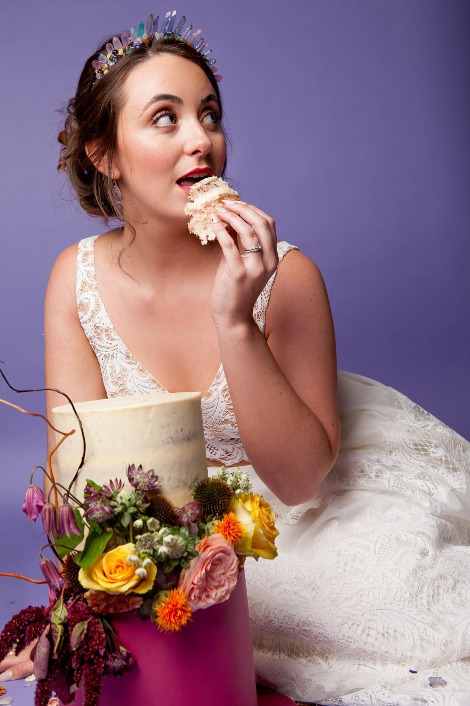 Abundance crystals- colourful wedding- cake 3