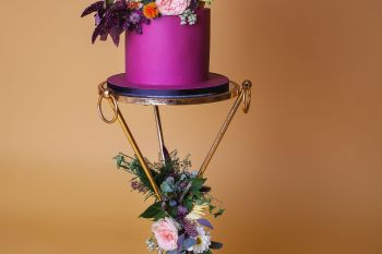Abundance crystals- colourful wedding- cake