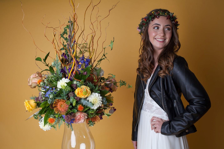 Abundance crystals- colourful wedding- smile