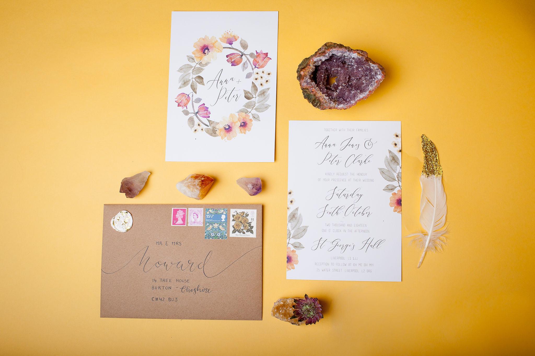 Abundance crystals- colourful wedding- stationery 2