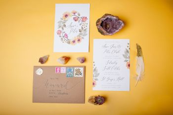 Abundance crystals- colourful wedding- stationery 2