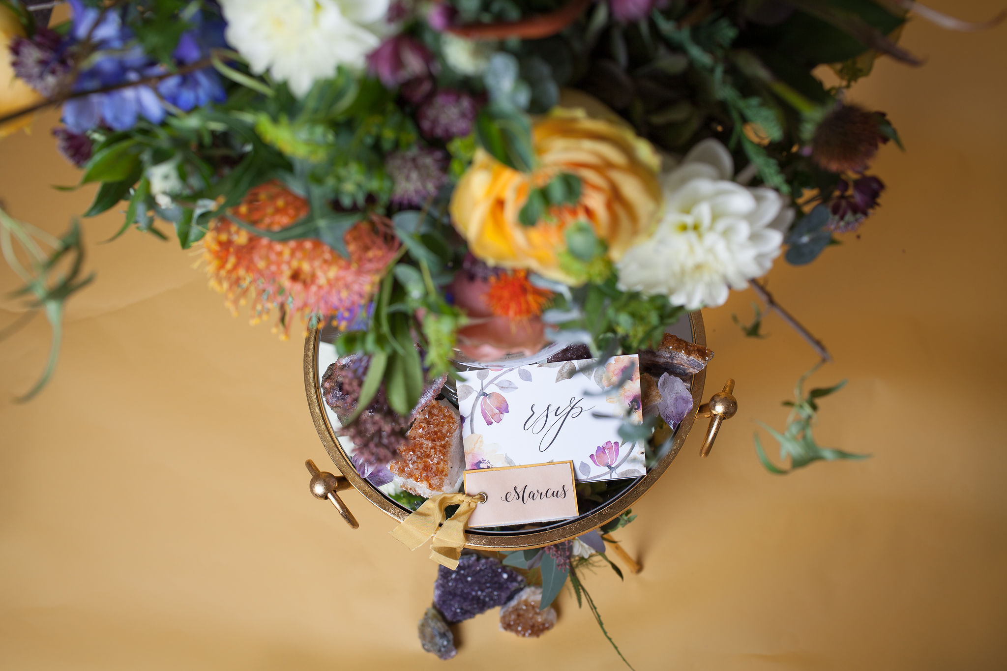 Abundance crystals- colourful wedding