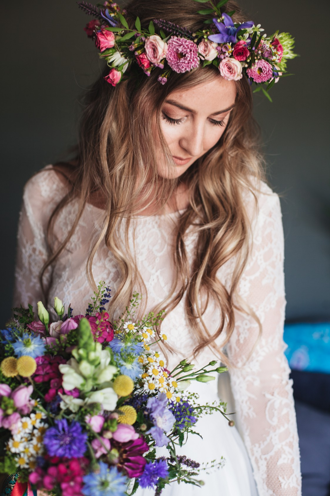 Festival Wedding- Joelle Poulos- Bride Flowers