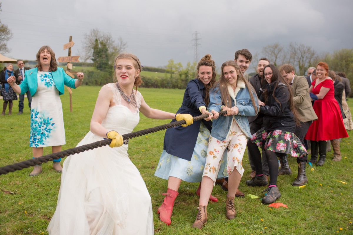 Ragdoll Photography-Tipi Wedding- Tug Of War 4