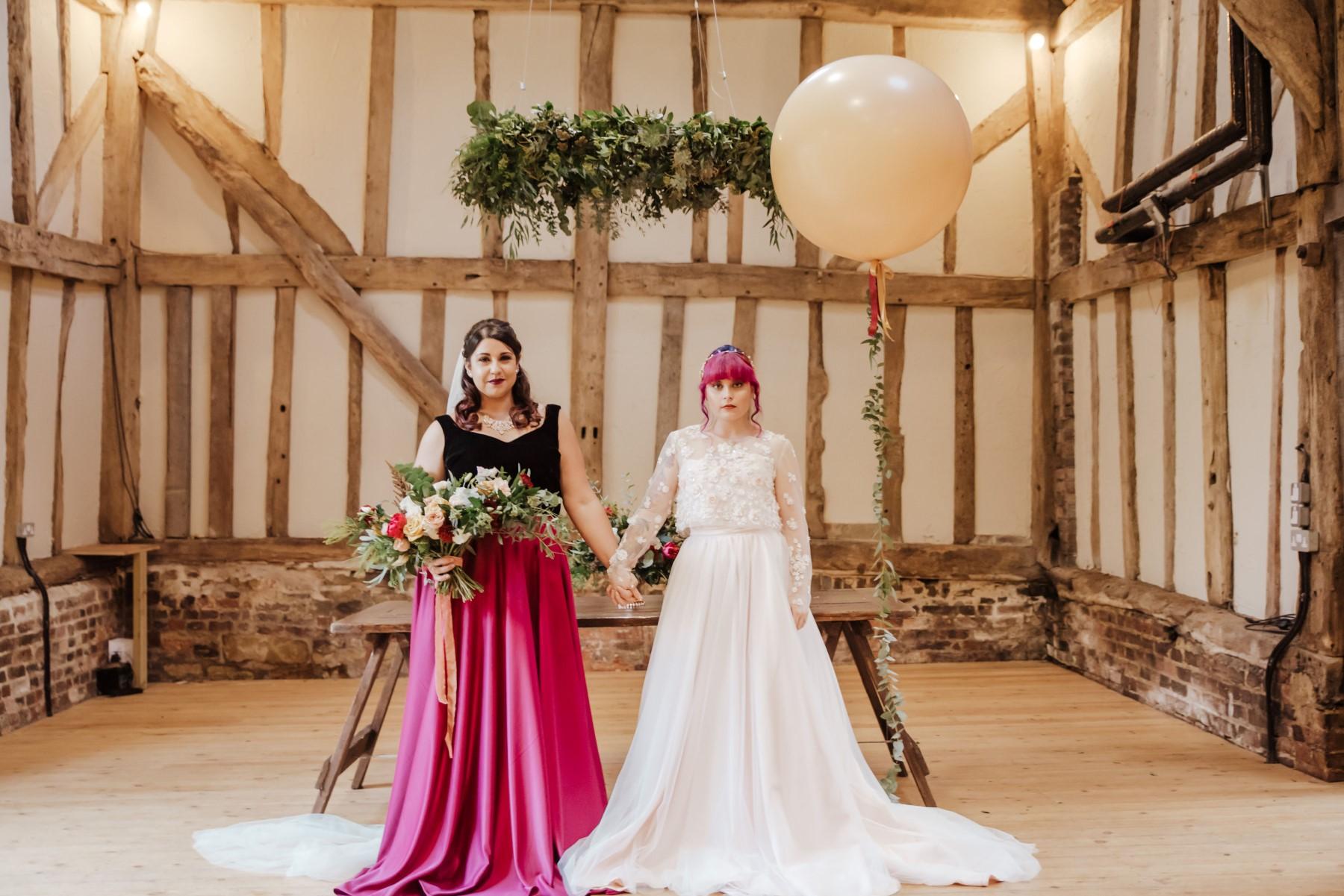 Roshni Photography- Barn Wedding Shoot- Balloon