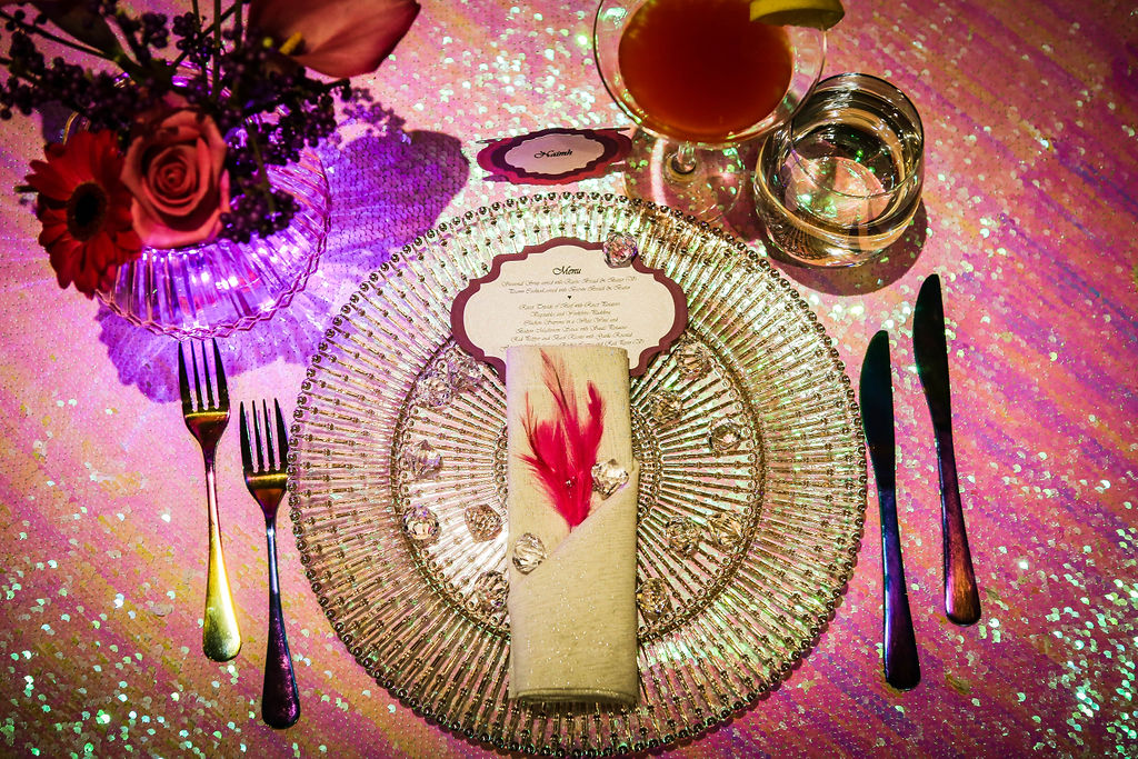neon dreams- free form images- valentines- plate