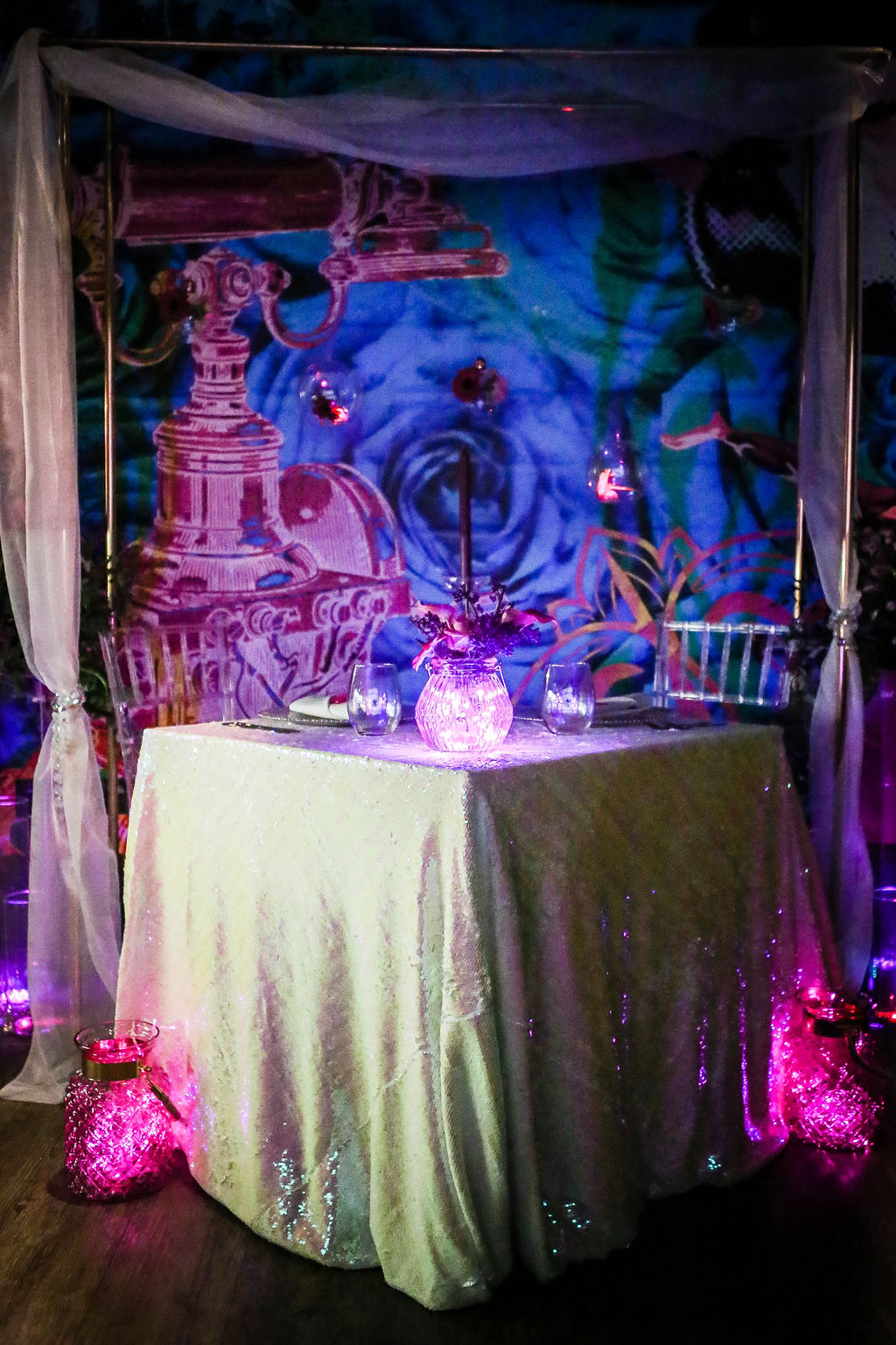 neon dreams- free form images- valentines- table