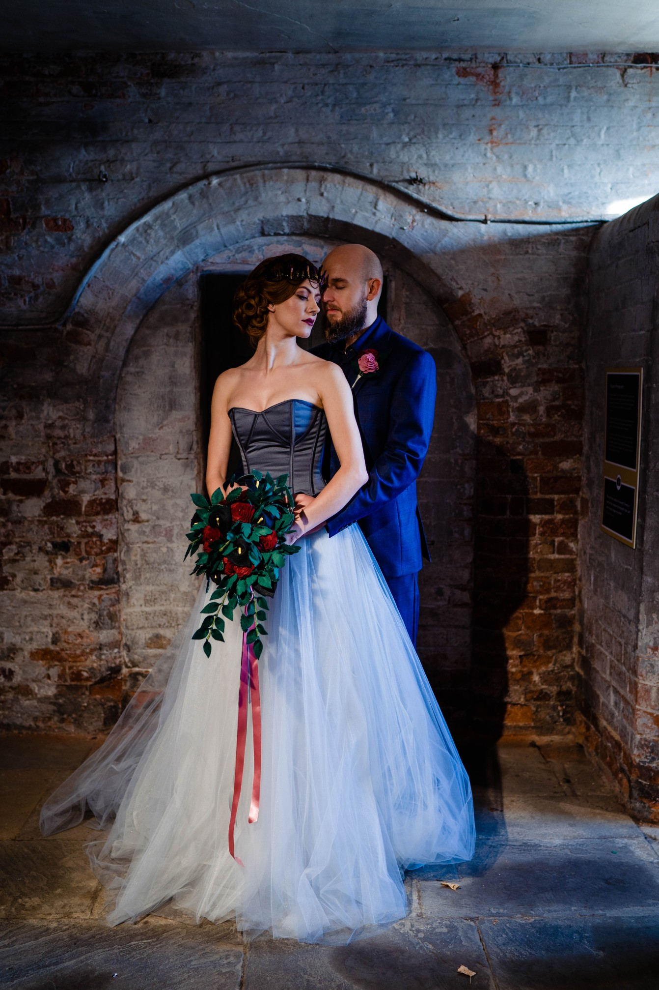 A gothic wedding - national justice museum wedding - alternative wedding - Vicki Clayson Photography (1)