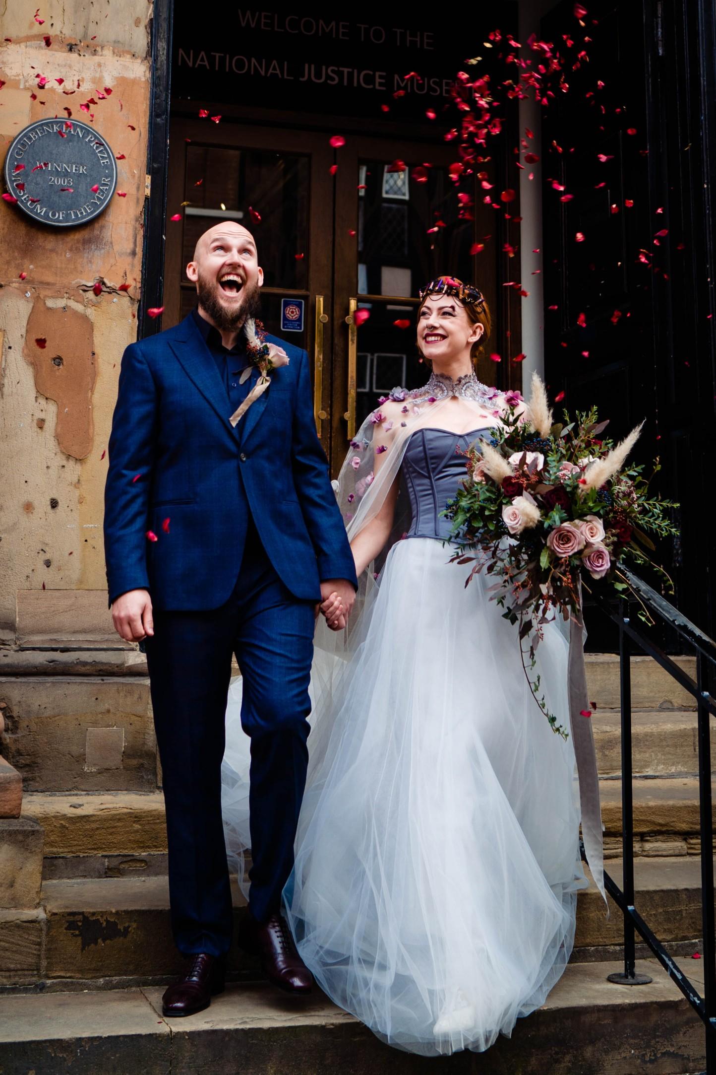 A gothic wedding - national justice museum wedding - alternative wedding - Vicki Clayson Photography (30)