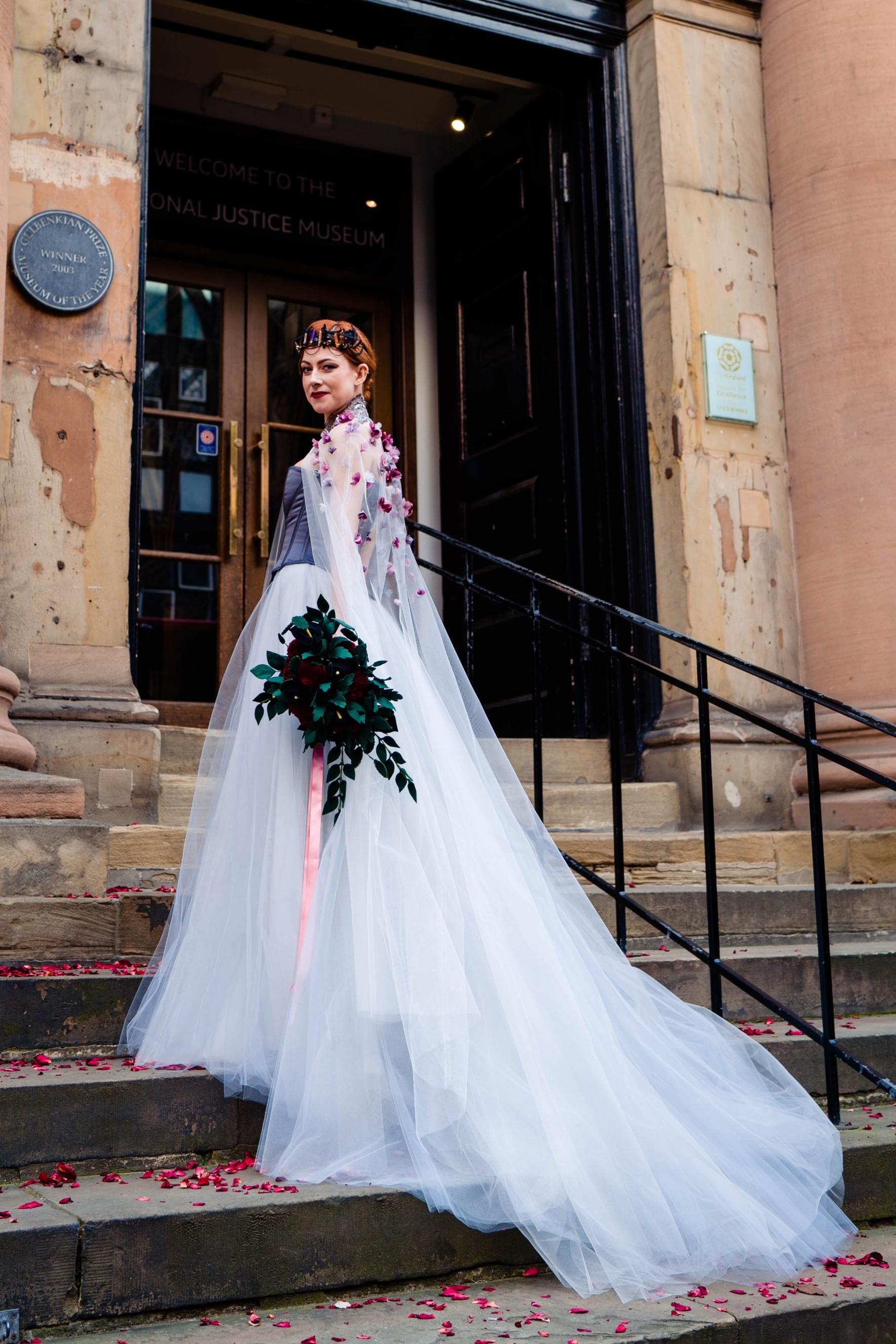 A gothic wedding - national justice museum wedding - alternative wedding - Vicki Clayson Photography (33)