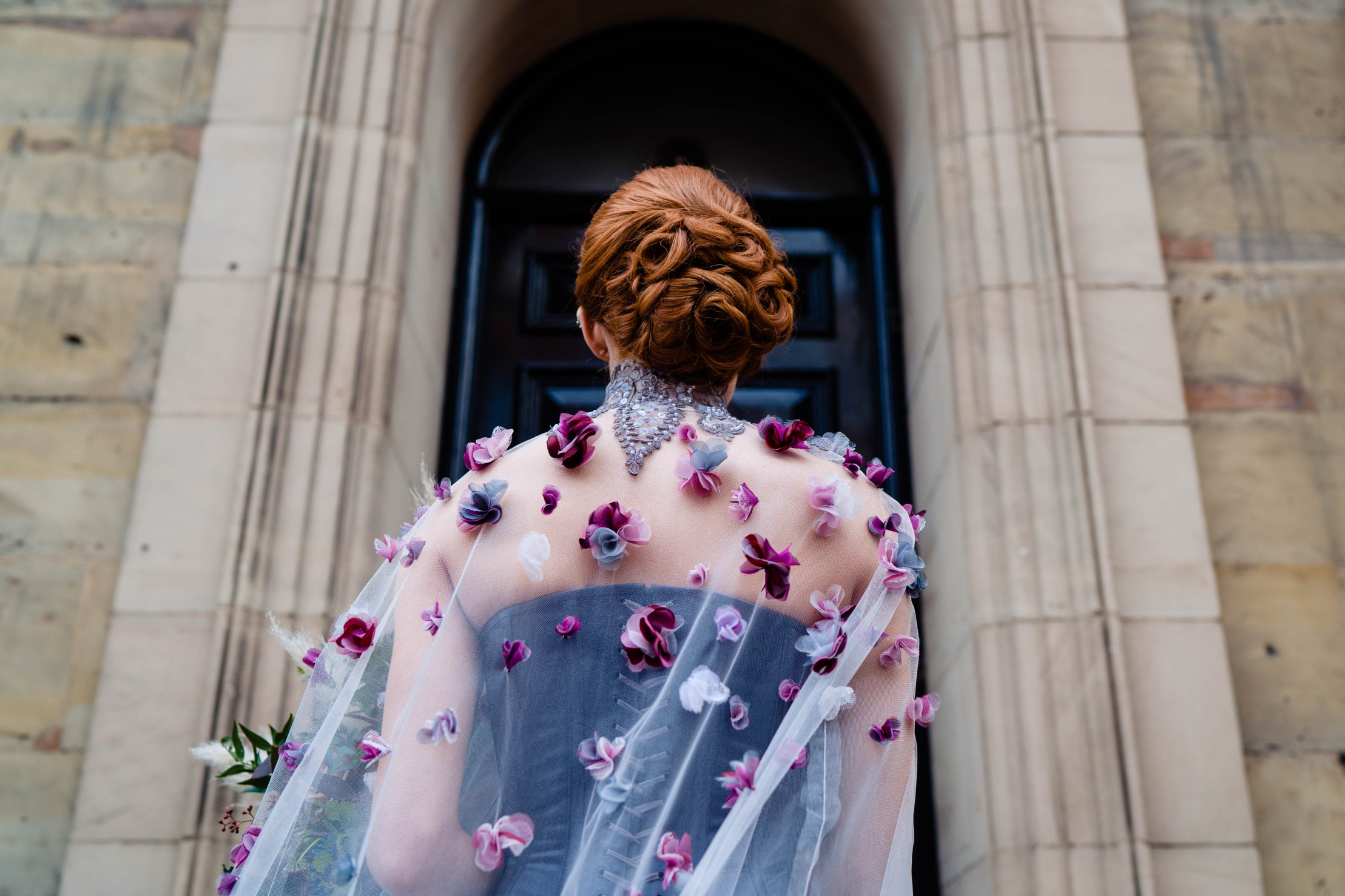 A gothic wedding - national justice museum wedding - alternative wedding - Vicki Clayson Photography (34)