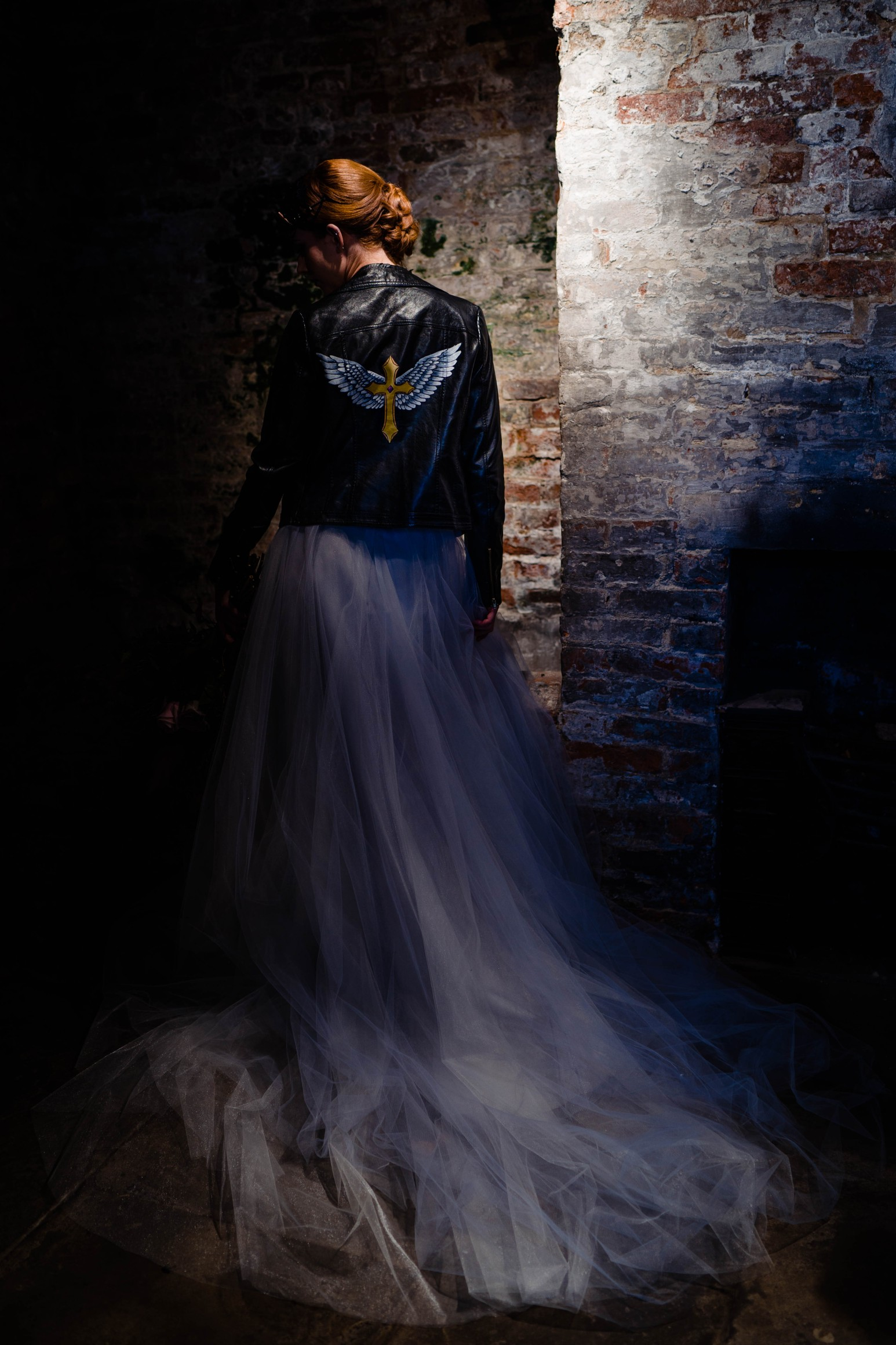 A gothic wedding - national justice museum wedding - alternative wedding - Vicki Clayson Photography (4)