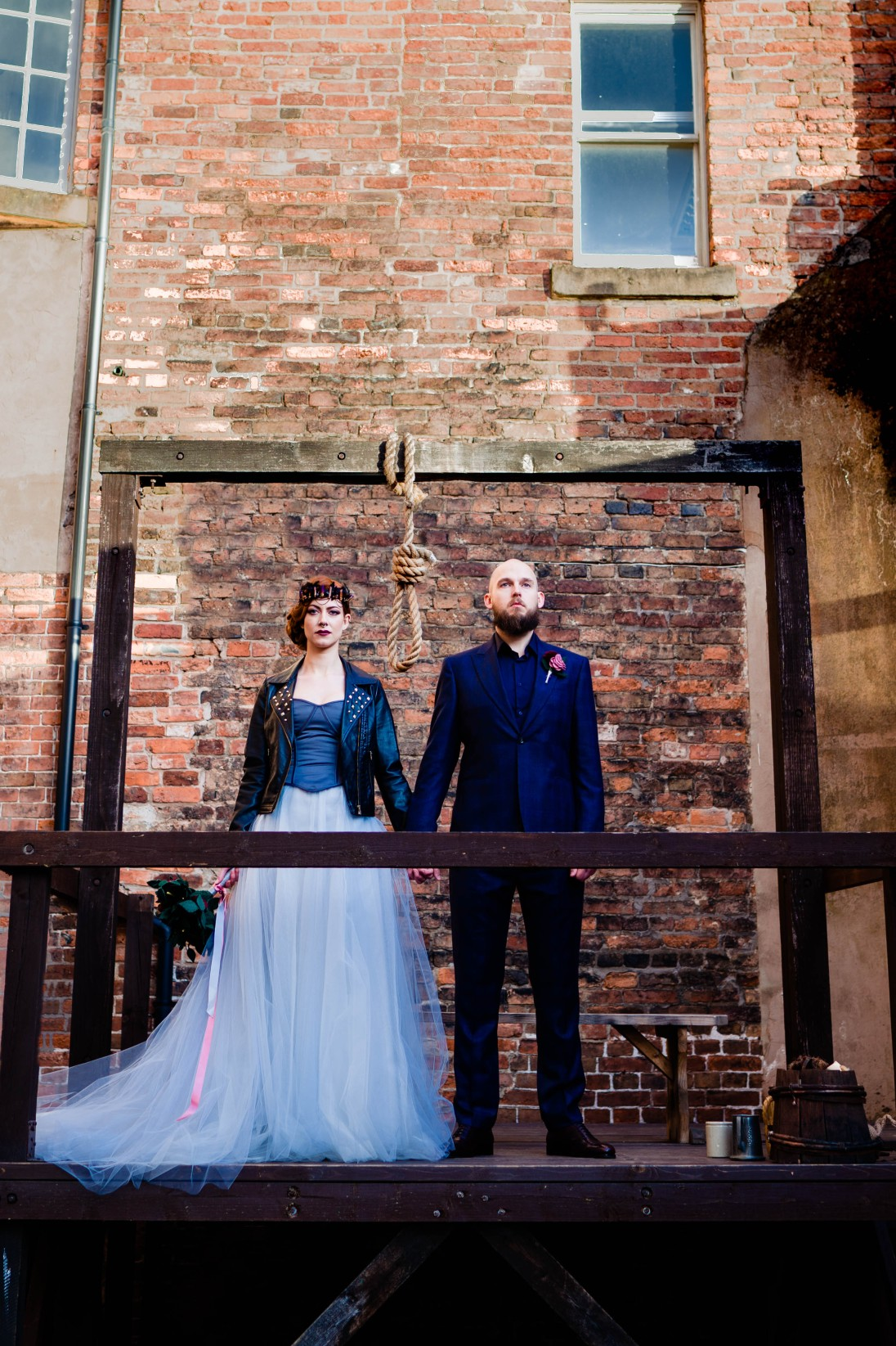A gothic wedding - national justice museum wedding - alternative wedding - Vicki Clayson Photography (5)