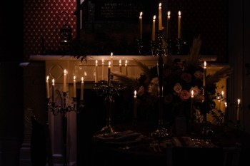 gothic glamour- vicki clayson photography-candles