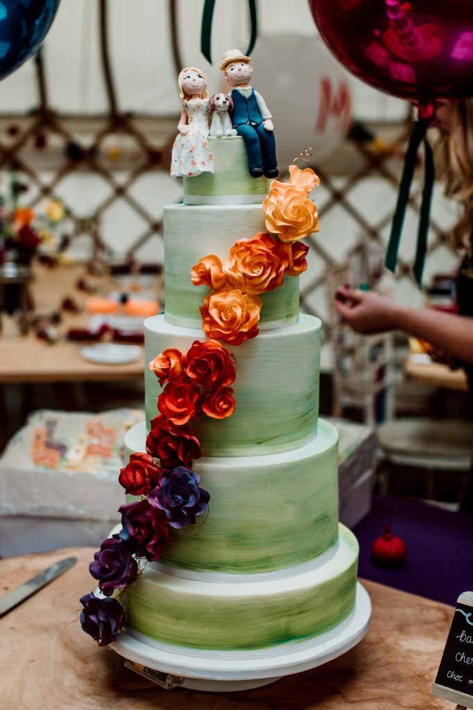 Alpaca Yurt Wedding- Cake