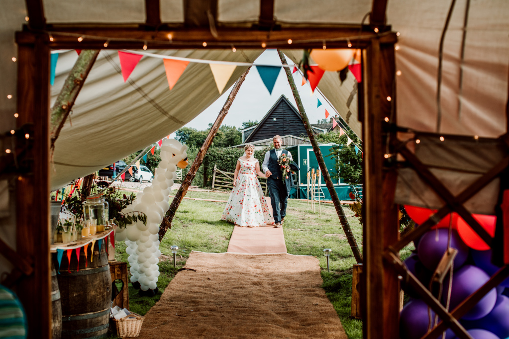 Alpaca Yurt Wedding