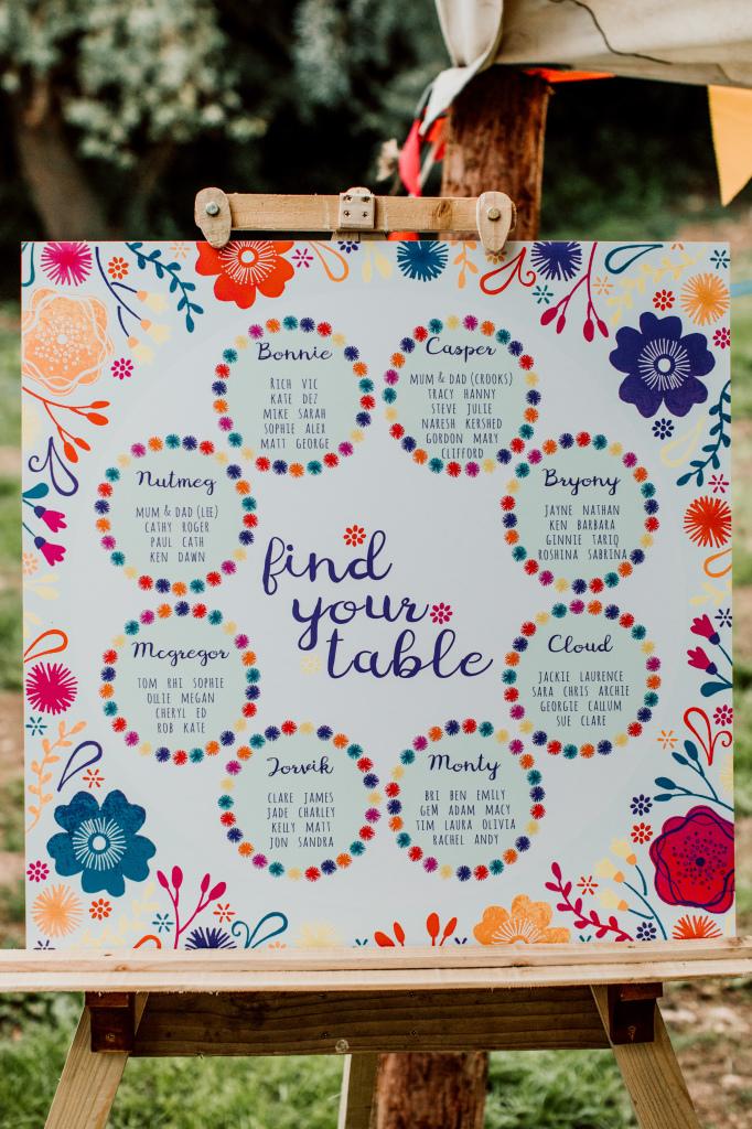Alpaca Yurt Wedding- Table