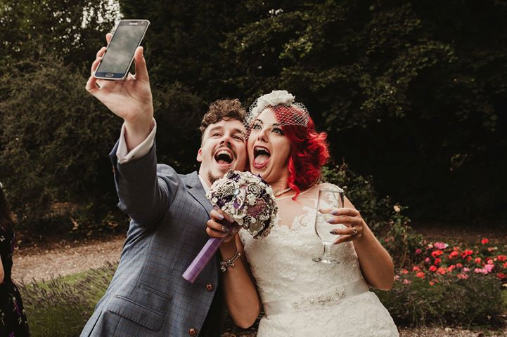 Photo Credit Mr&Mrs.K.Photography with bouquet by Maddison Rocks Floral - alternative wedding bouquet