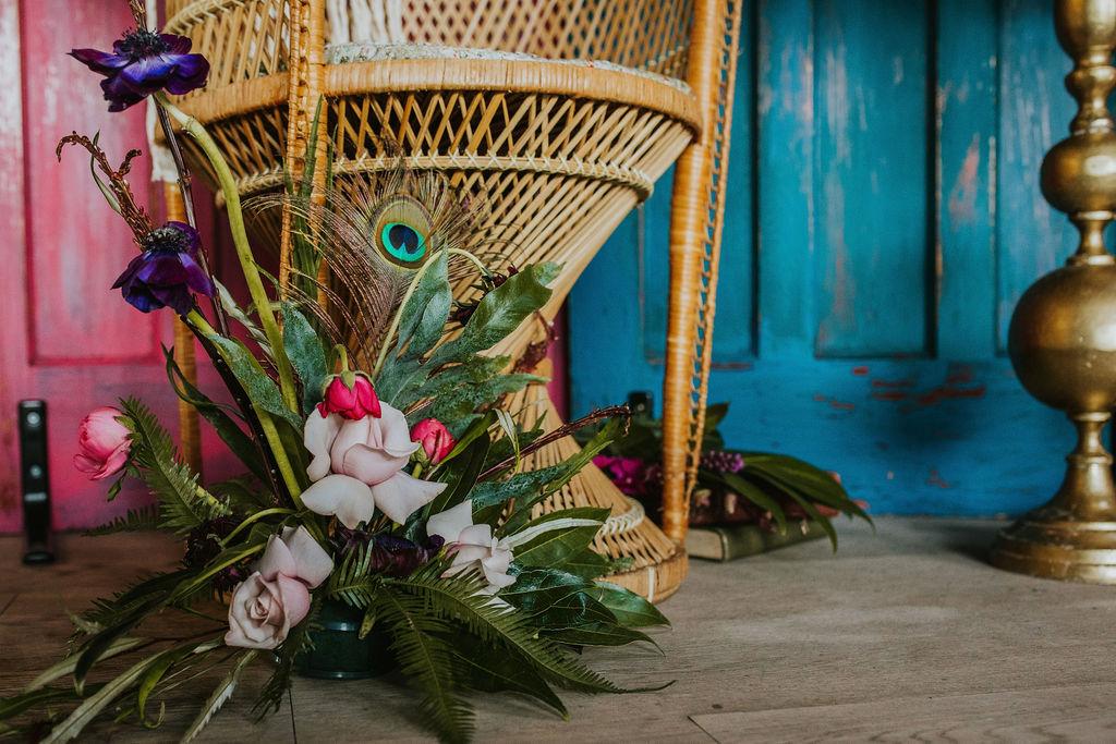 Olive Owl- Wedding Flowers-Feather