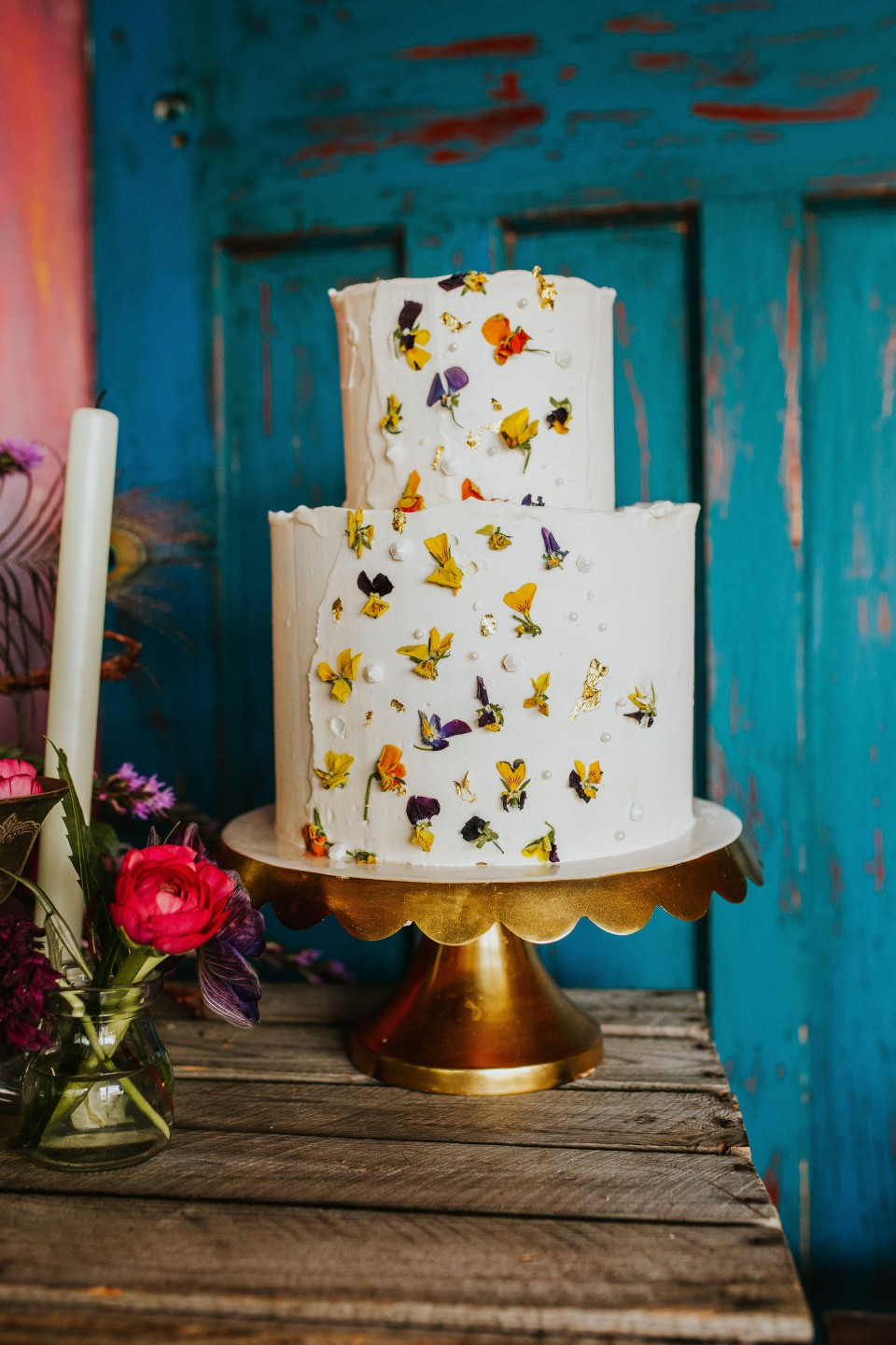 Olive Owl- Wedding Flowers- Cake