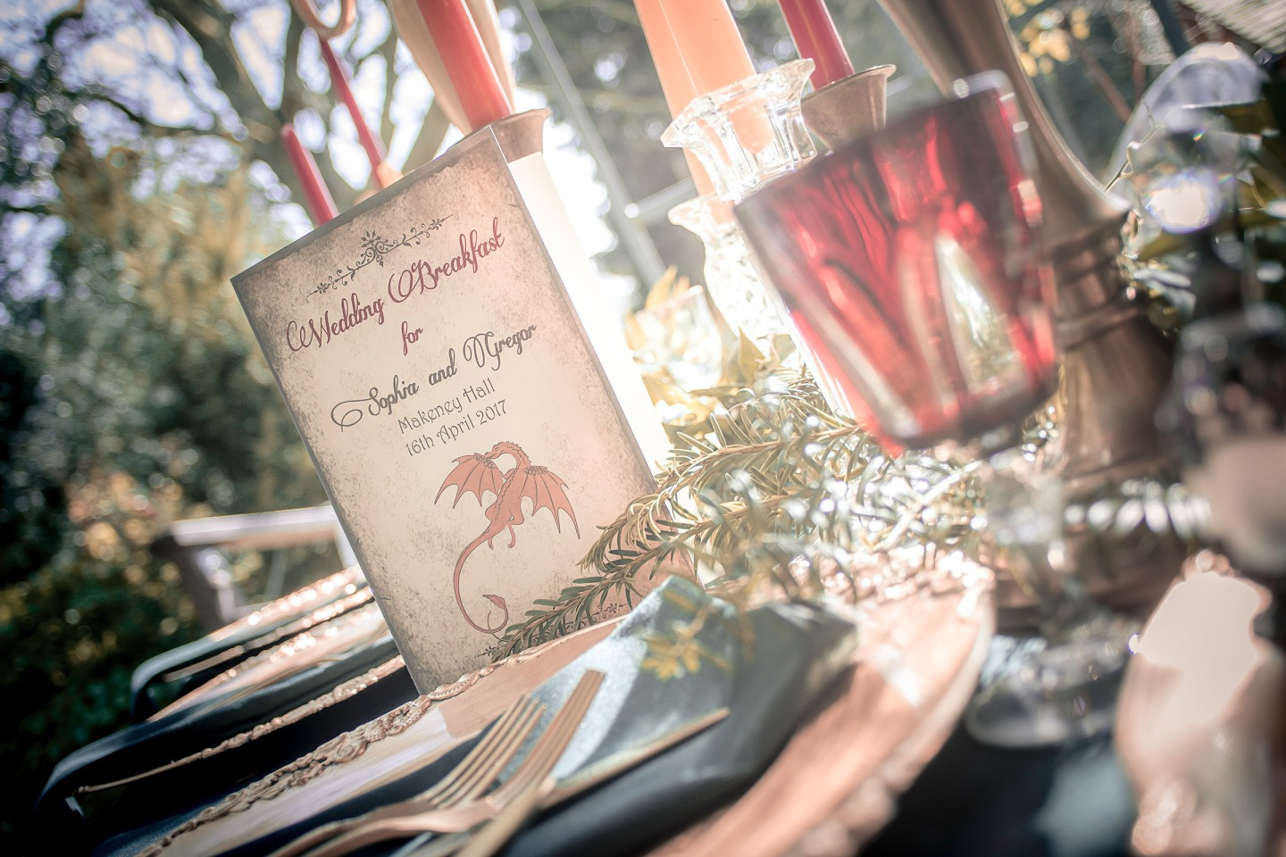 Photo Andy Douglas Photography, styling by that black and white cat weddings 1 - game of thrones wedding - alternative wedding 7